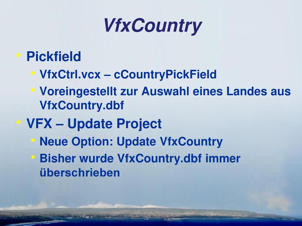VfxCountry Pickfield VFX – Update Project