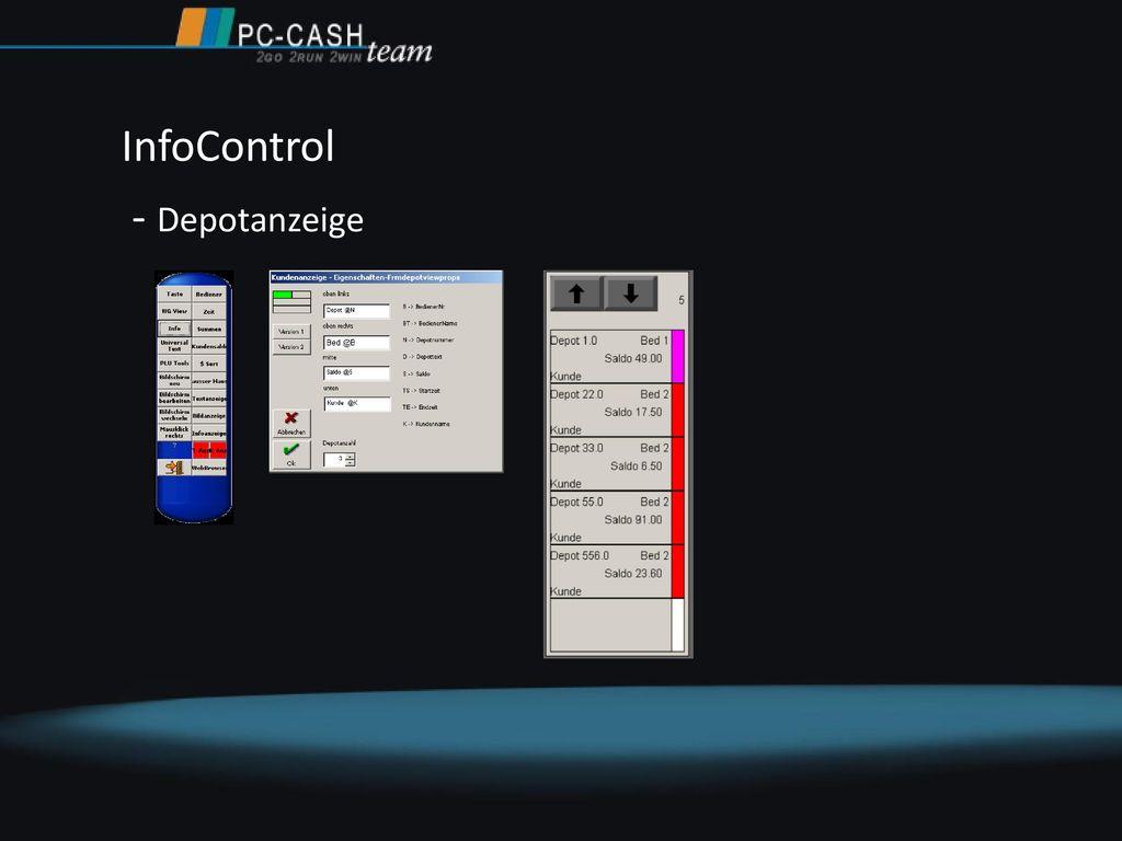 InfoControl - Depotanzeige