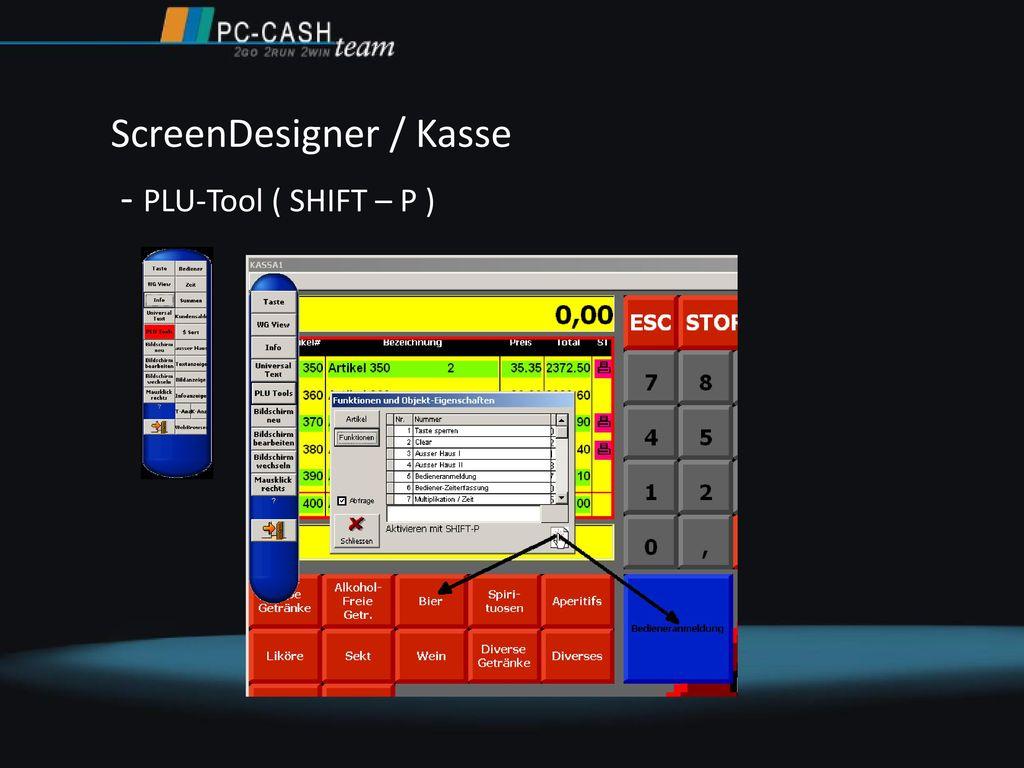 ScreenDesigner / Kasse