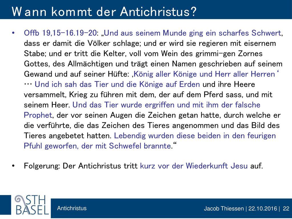 Wann kommt der Antichristus