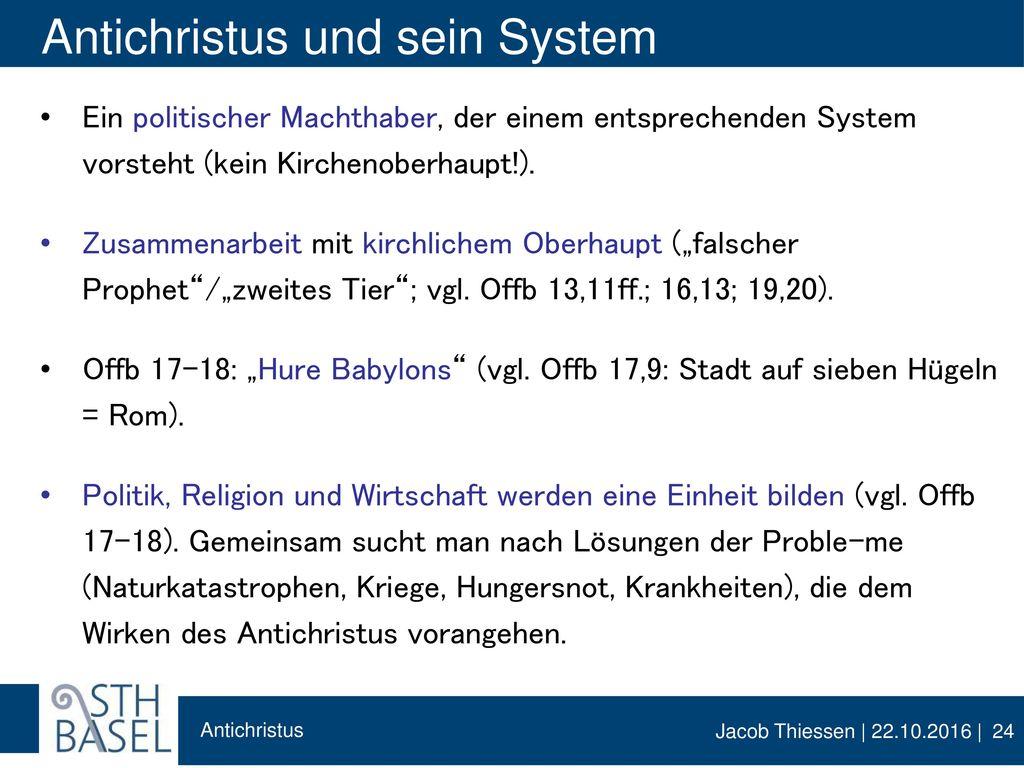 Antichristus und sein System