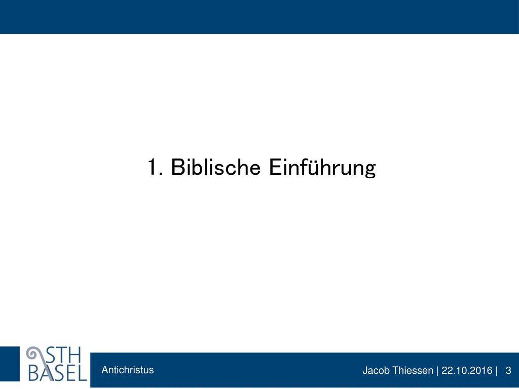 1. Biblische Einführung