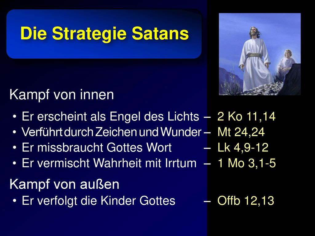 Die Strategie Satans Kampf von innen Kampf von außen