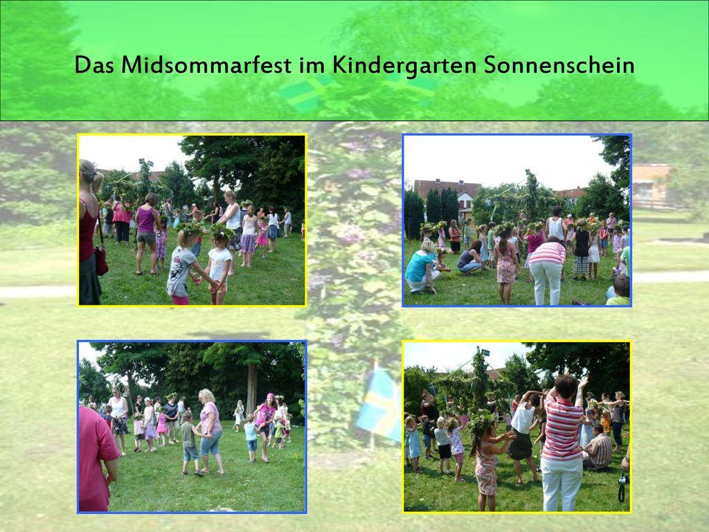 Das Midsommarfest im Kindergarten Sonnenschein