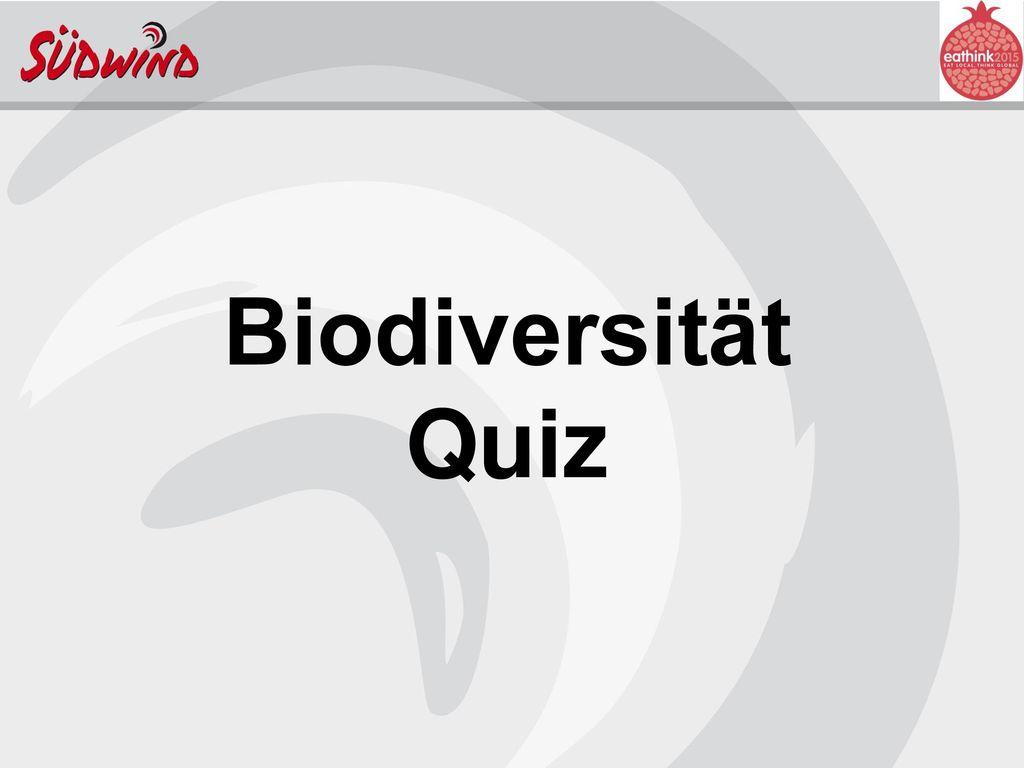 Biodiversität Quiz