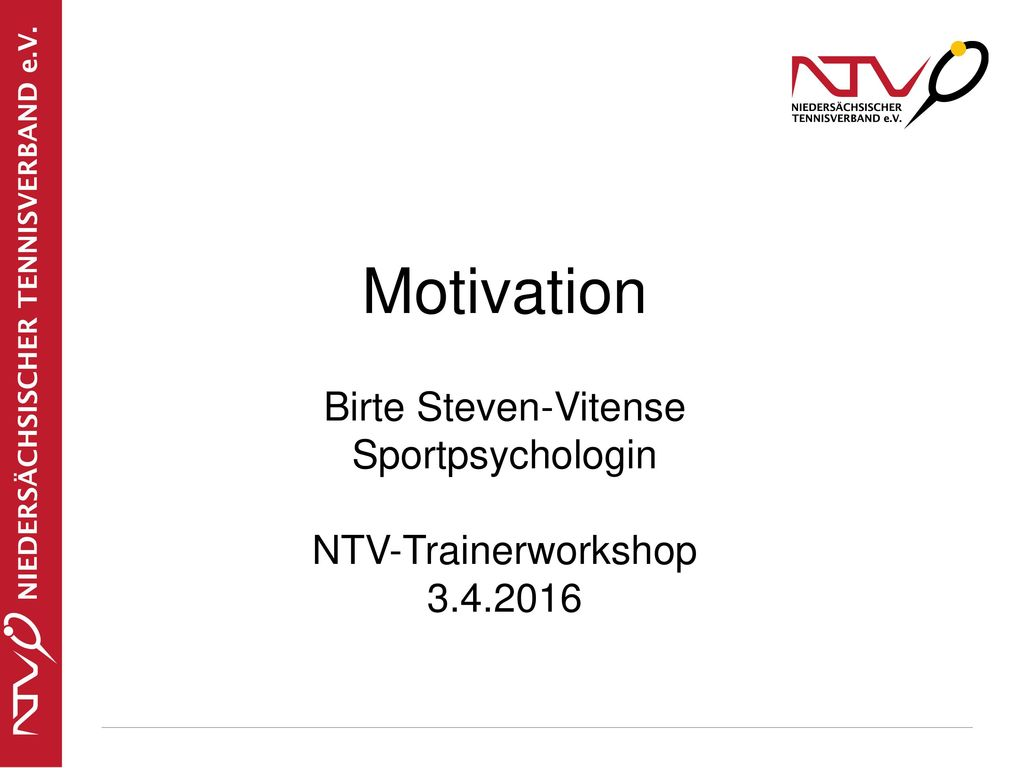 Motivation Birte Steven-Vitense Sportpsychologin