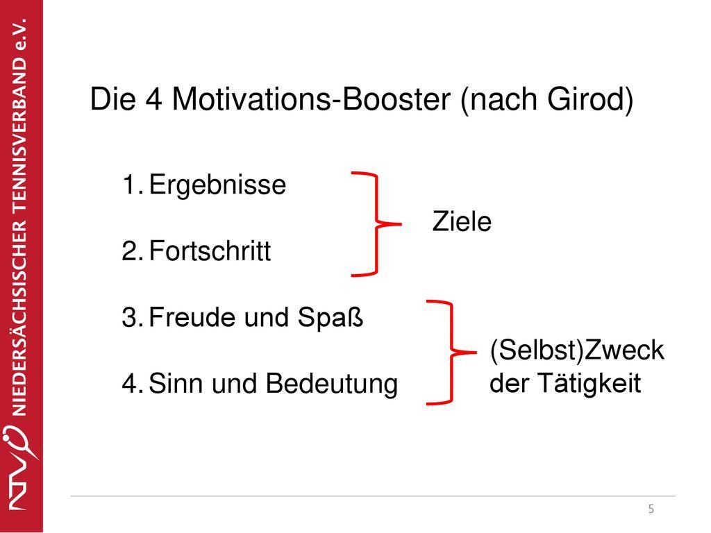 Die 4 Motivations-Booster (nach Girod)