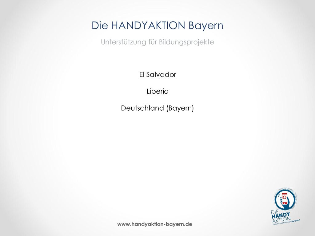 Die HANDYAKTION Bayern Unterstützung für Bildungsprojekte