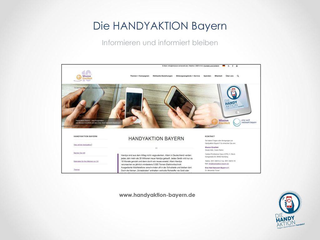 Die HANDYAKTION Bayern Informieren und informiert bleiben