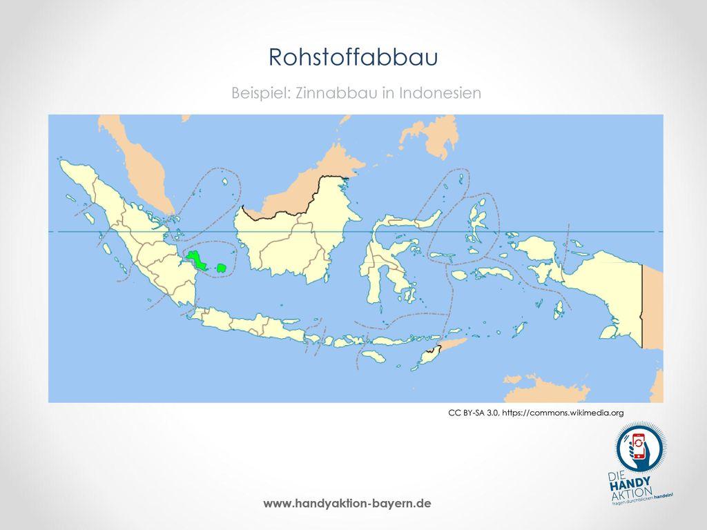 Rohstoffabbau Beispiel: Zinnabbau in Indonesien