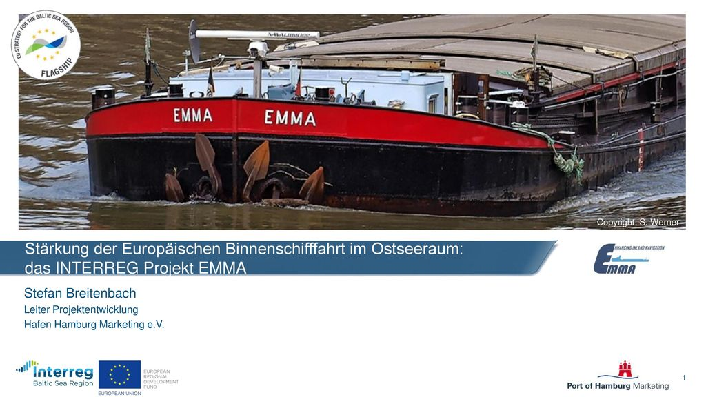 Stärkung der Europäischen Binnenschifffahrt im Ostseeraum: das INTERREG Projekt EMMA