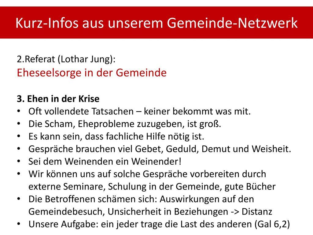 Kurz-Infos aus unserem Gemeinde-Netzwerk