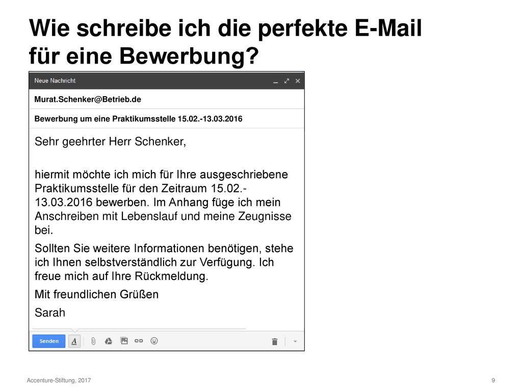 Ziemlich E Mail F R Den Lebenslauf Anhang Galerie - Entry Level ...