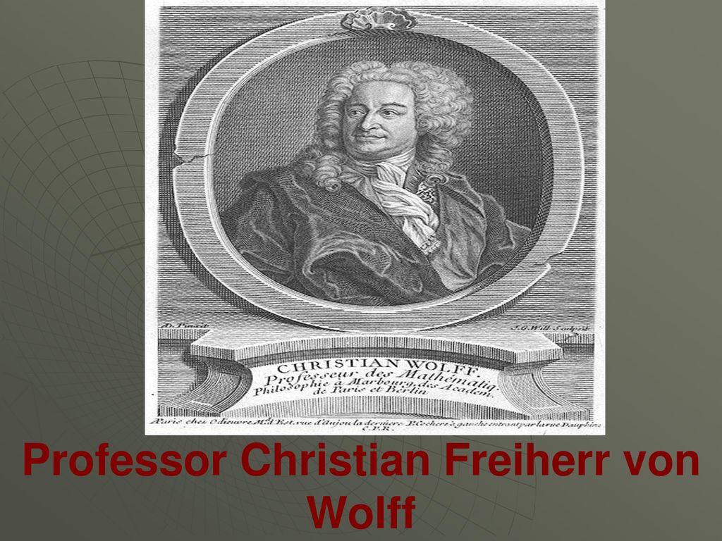 Professor Christian Freiherr von Wolff