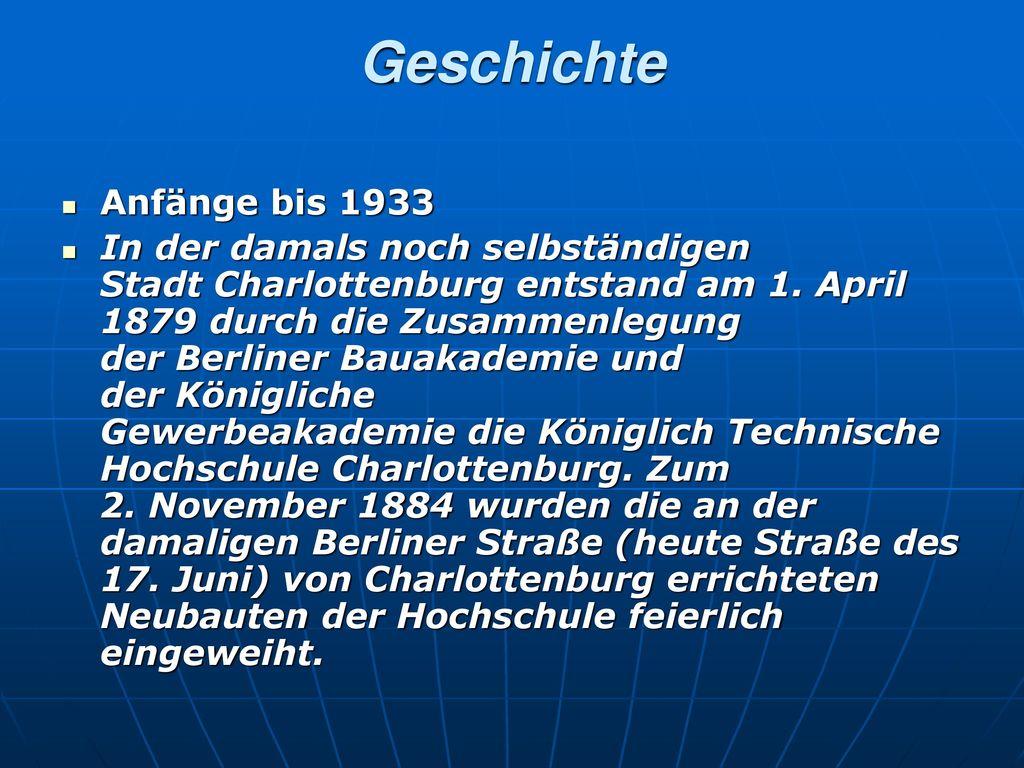 Geschichte Anfänge bis 1933