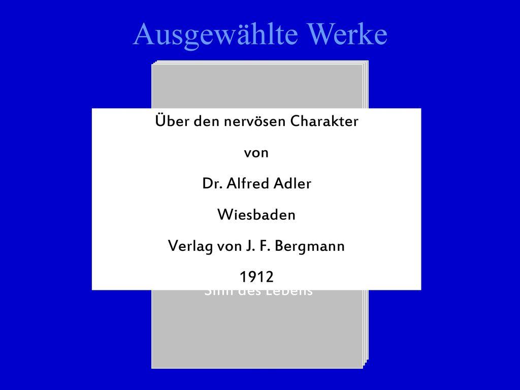 Ausgewählte Werke Über den nervösen Charakter von Schneidergewerbe