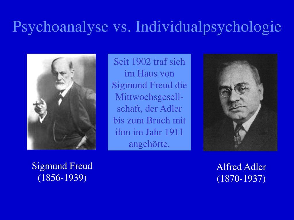 Psychoanalyse vs. Individualpsychologie