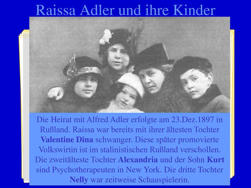 Raissa Adler und ihre Kinder