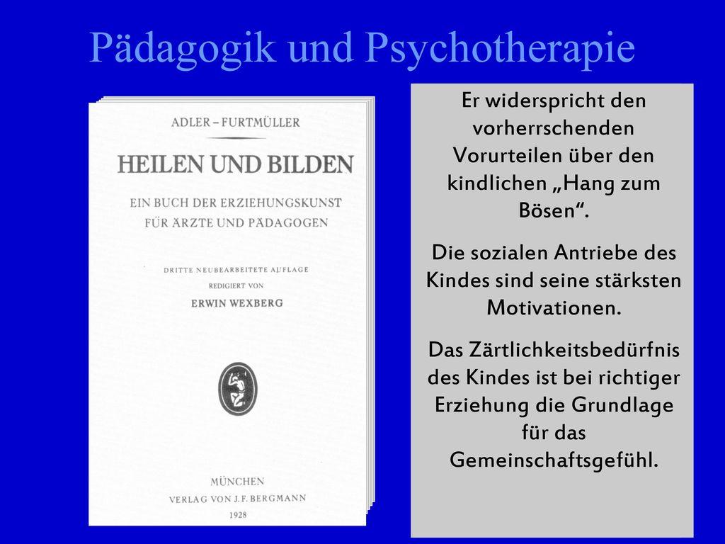 Pädagogik und Psychotherapie