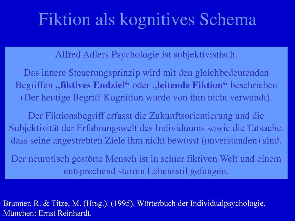 Fiktion als kognitives Schema