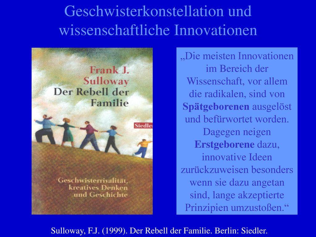 Geschwisterkonstellation und wissenschaftliche Innovationen