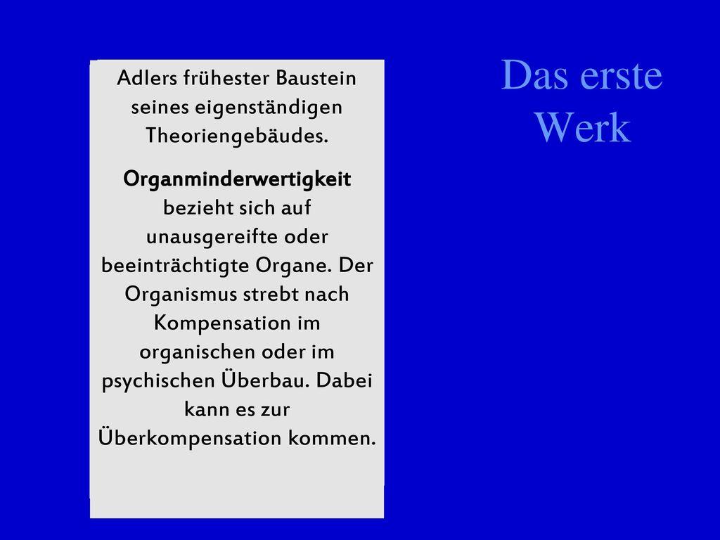 Adlers frühester Baustein seines eigenständigen Theoriengebäudes.