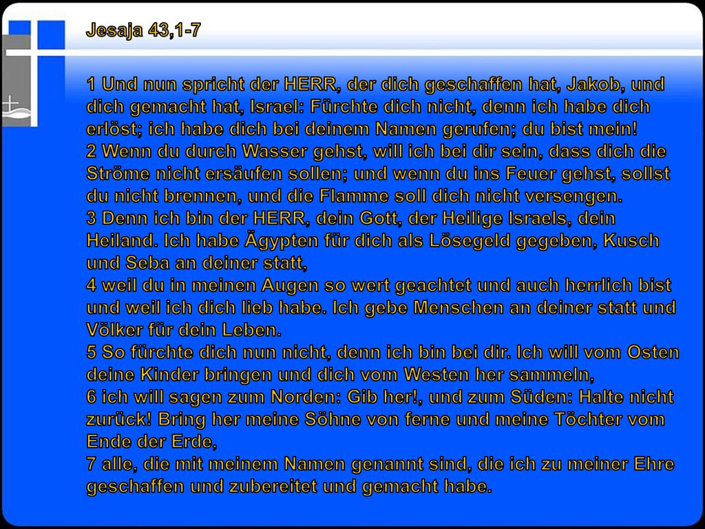 Jesaja 43,1-7