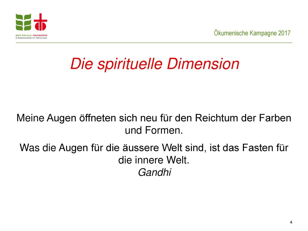 Die spirituelle Dimension