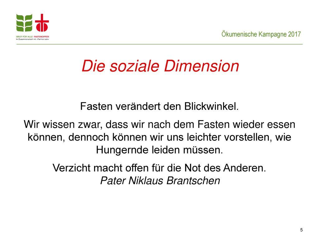 Die soziale Dimension