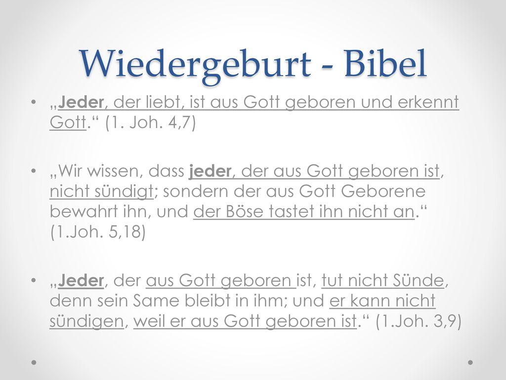 Wiedergeburt - Bibel