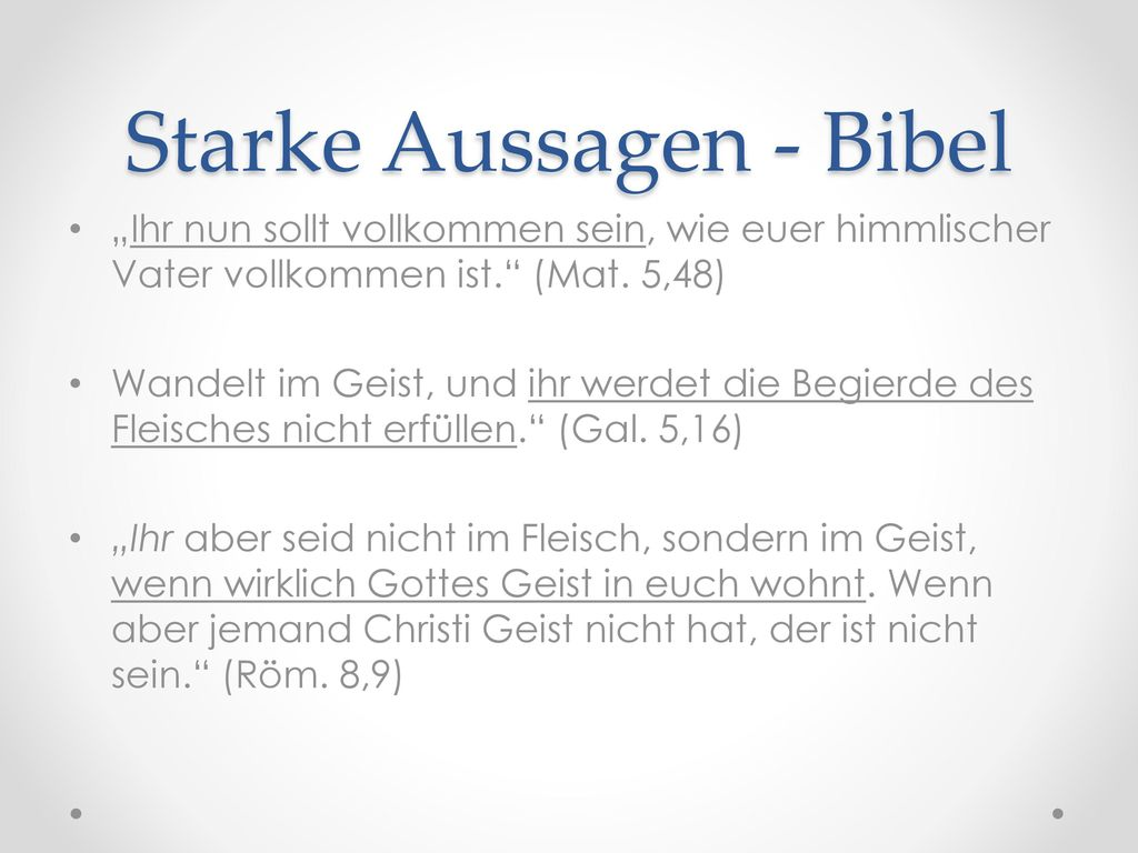 Starke Aussagen - Bibel