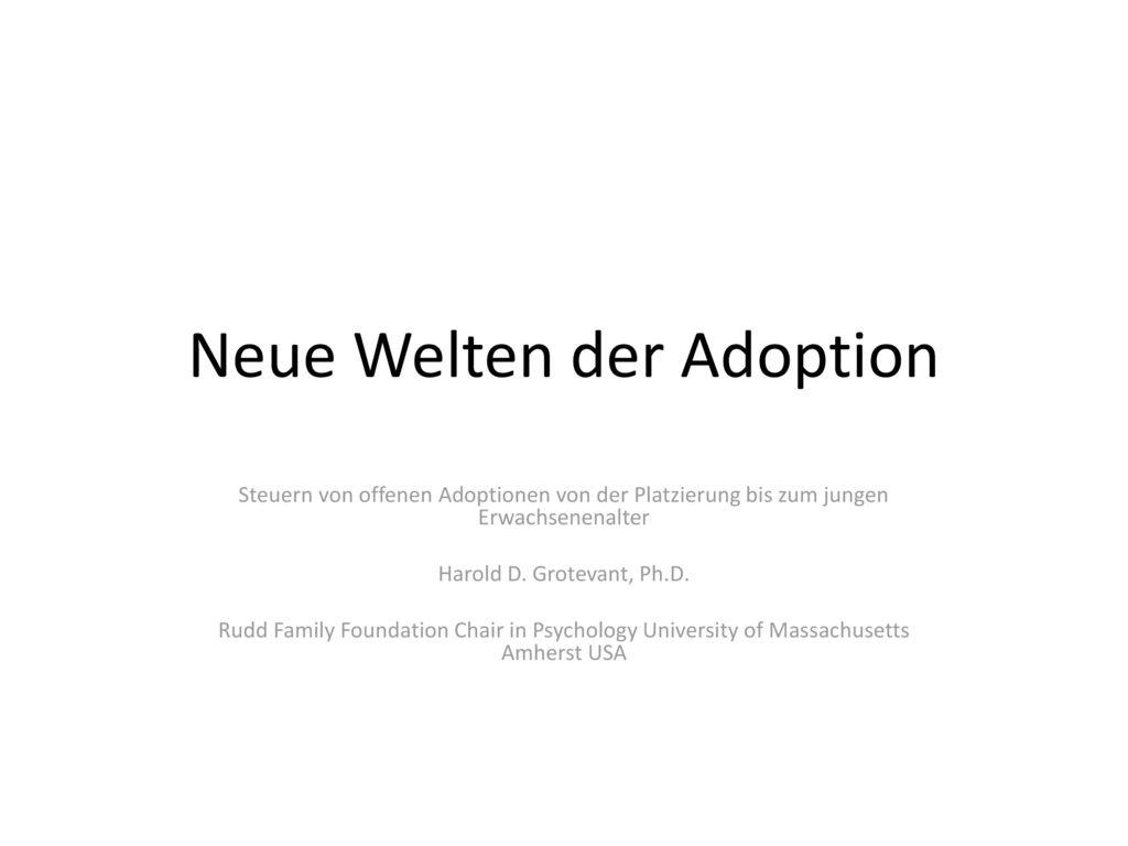 Neue Welten der Adoption