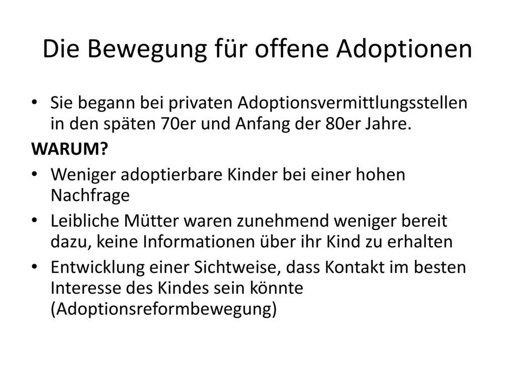 Die Bewegung für offene Adoptionen