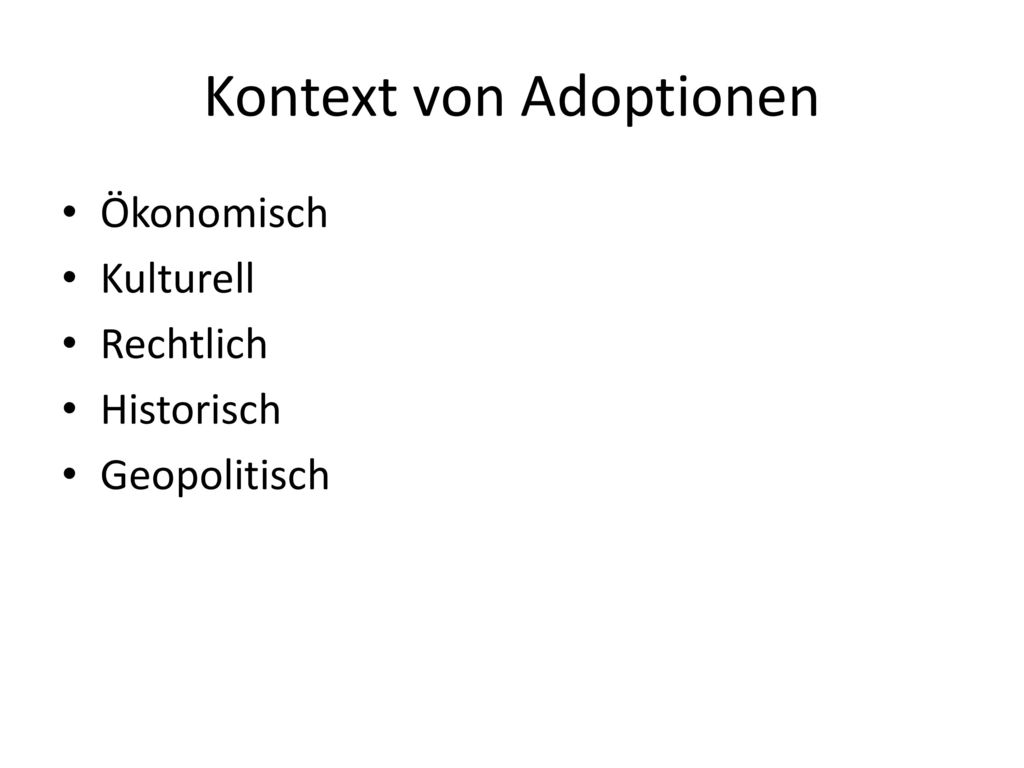 Kontext von Adoptionen
