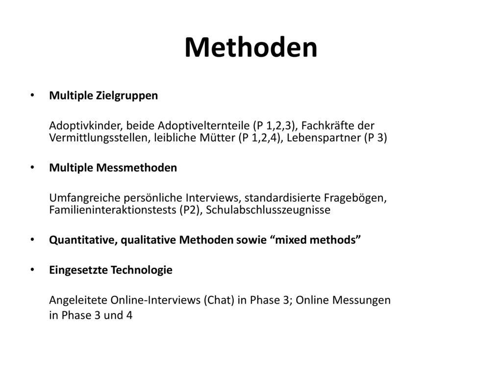 Methoden Multiple Zielgruppen