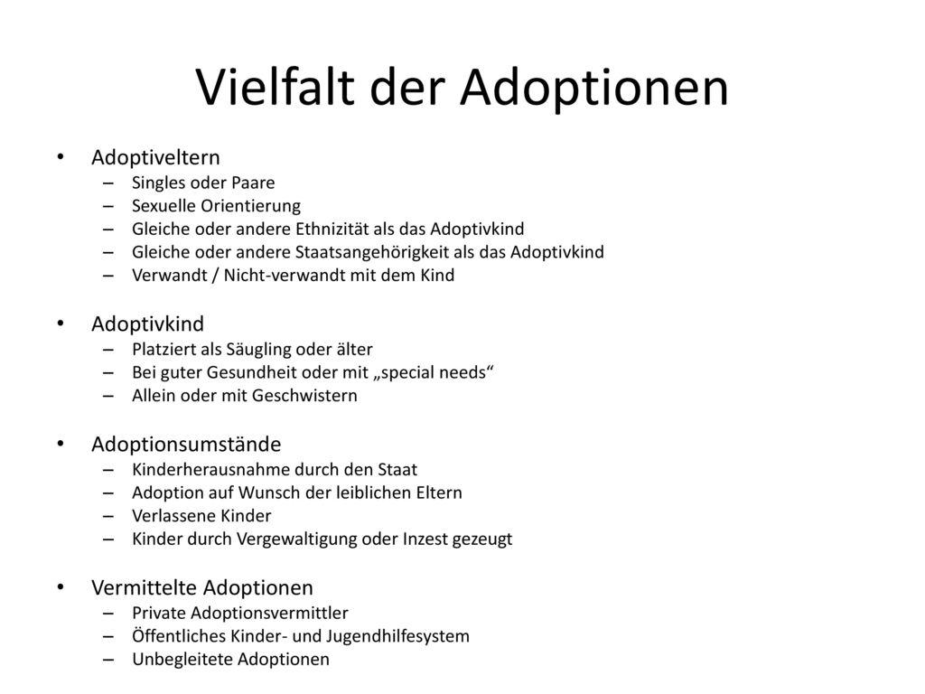 Vielfalt der Adoptionen
