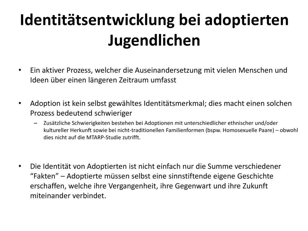 Identitätsentwicklung bei adoptierten Jugendlichen