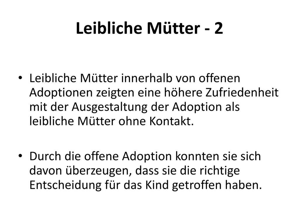 Leibliche Mütter - 2
