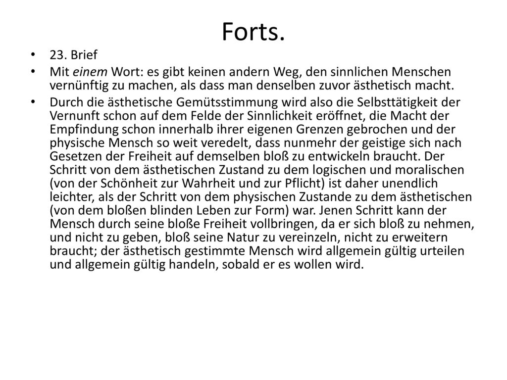 Forts. 23. Brief.