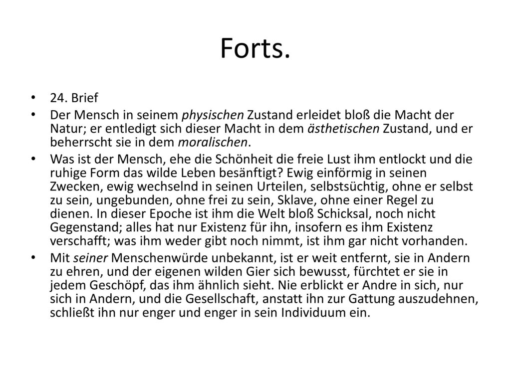 Forts. 24. Brief.