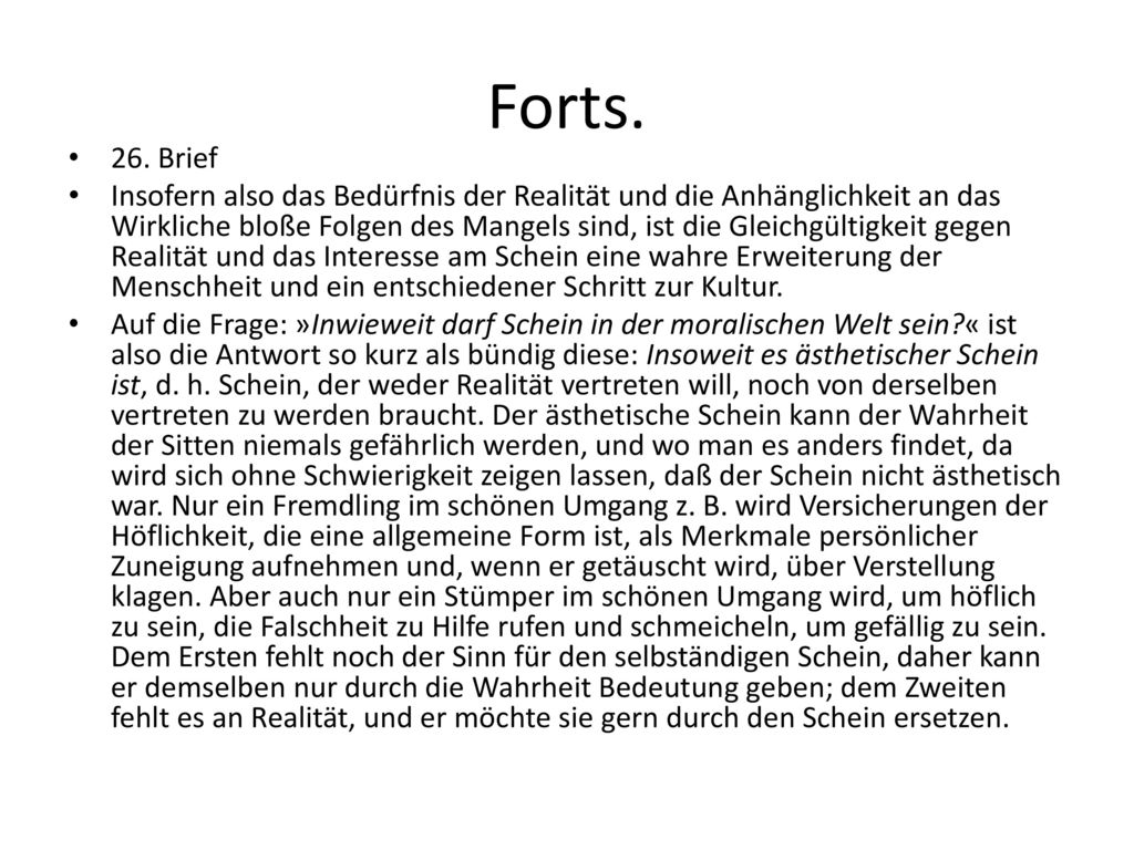Forts. 26. Brief.