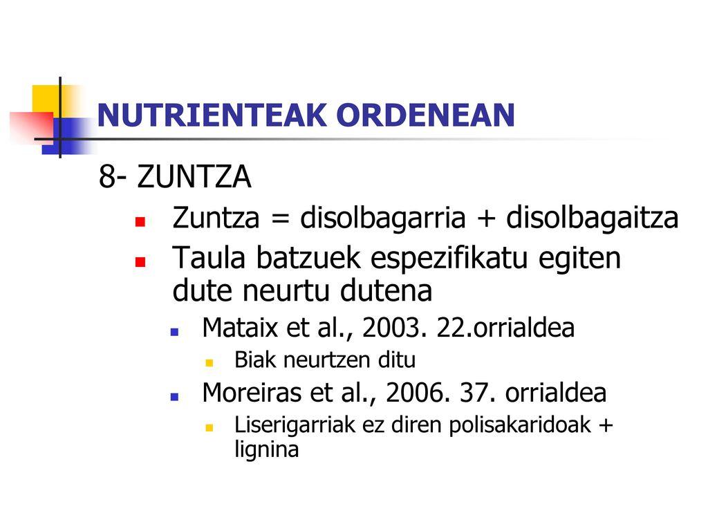 NUTRIENTEAK ORDENEAN 8- ZUNTZA