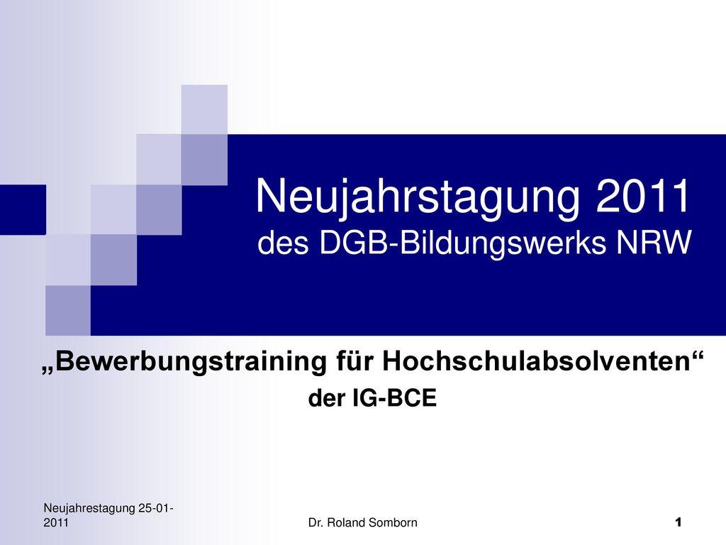 Neujahrstagung 2011 des DGB-Bildungswerks NRW