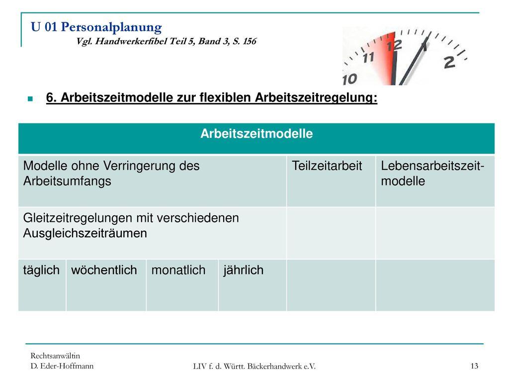 U 01 Personalplanung Vgl. Handwerkerfibel Teil 5, Band 3, S. 156