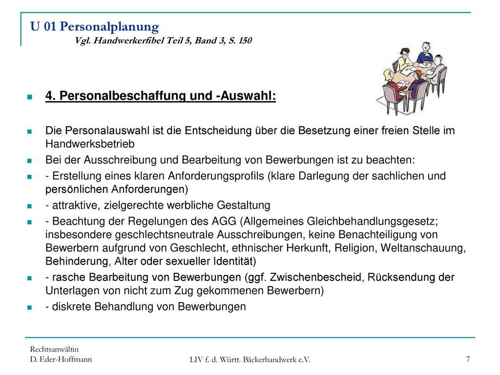 U 01 Personalplanung Vgl. Handwerkerfibel Teil 5, Band 3, S. 150