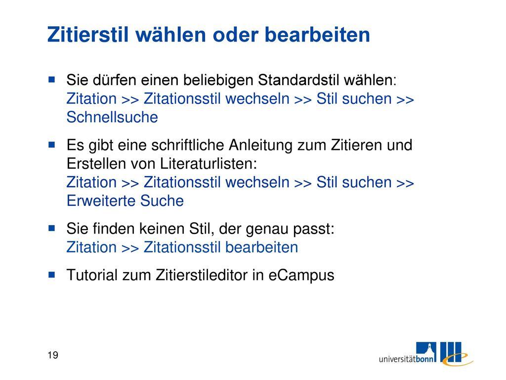 Ausgabefunktionen: Textverarbeitung