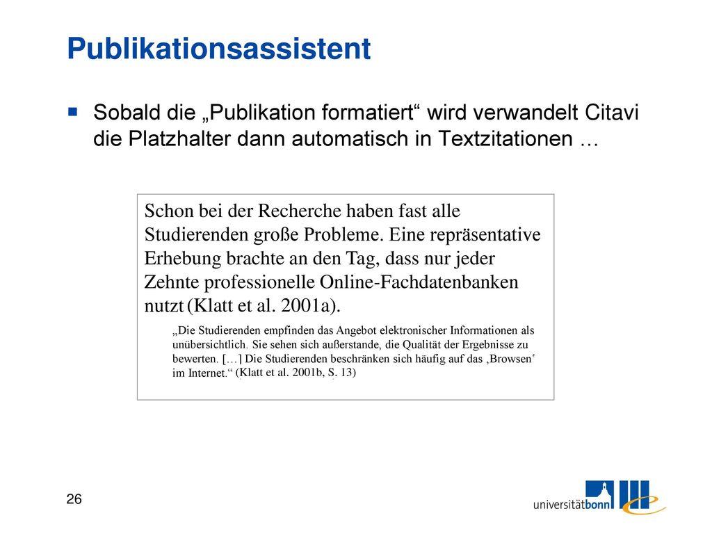 Publikation formatieren