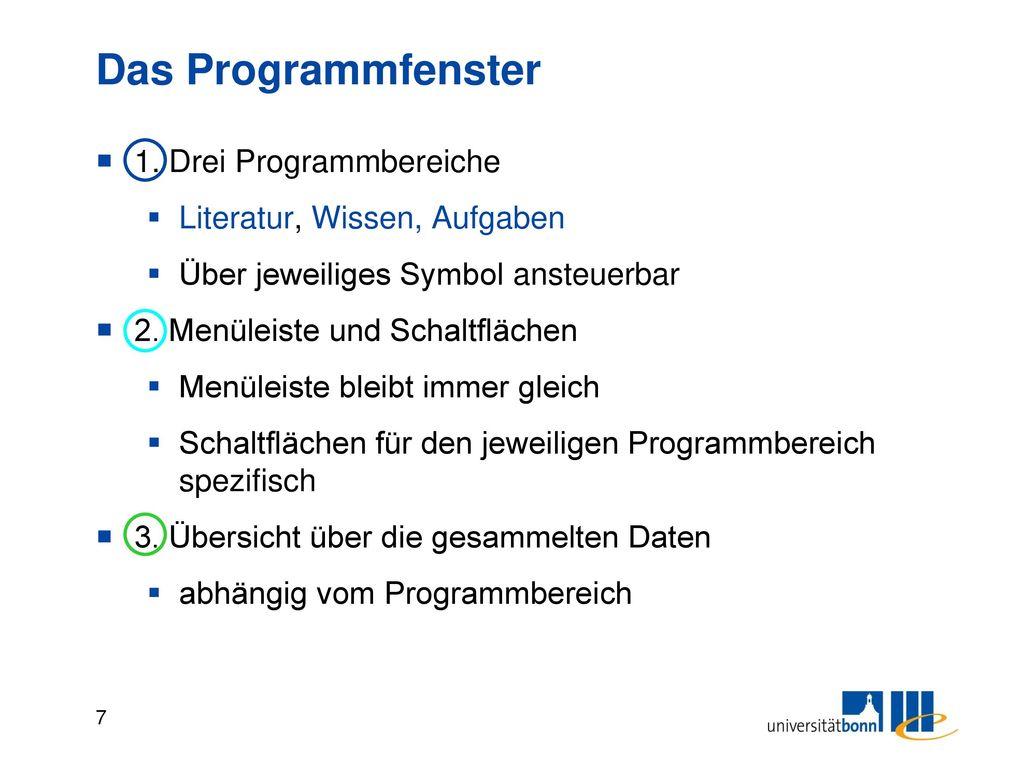 Das Programmfenster 4. Informationen zum ausgewählten Titel