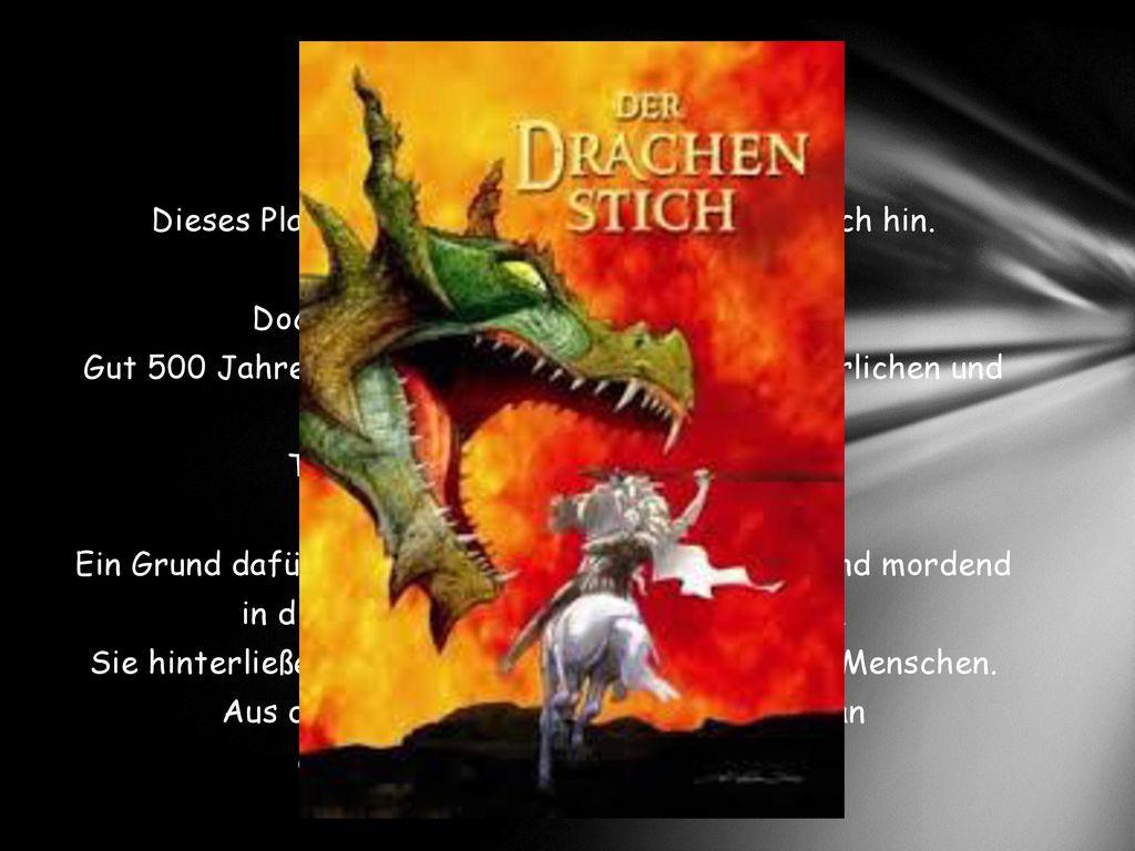 Dieses Plakat weist heute auf den Drachenstich hin.