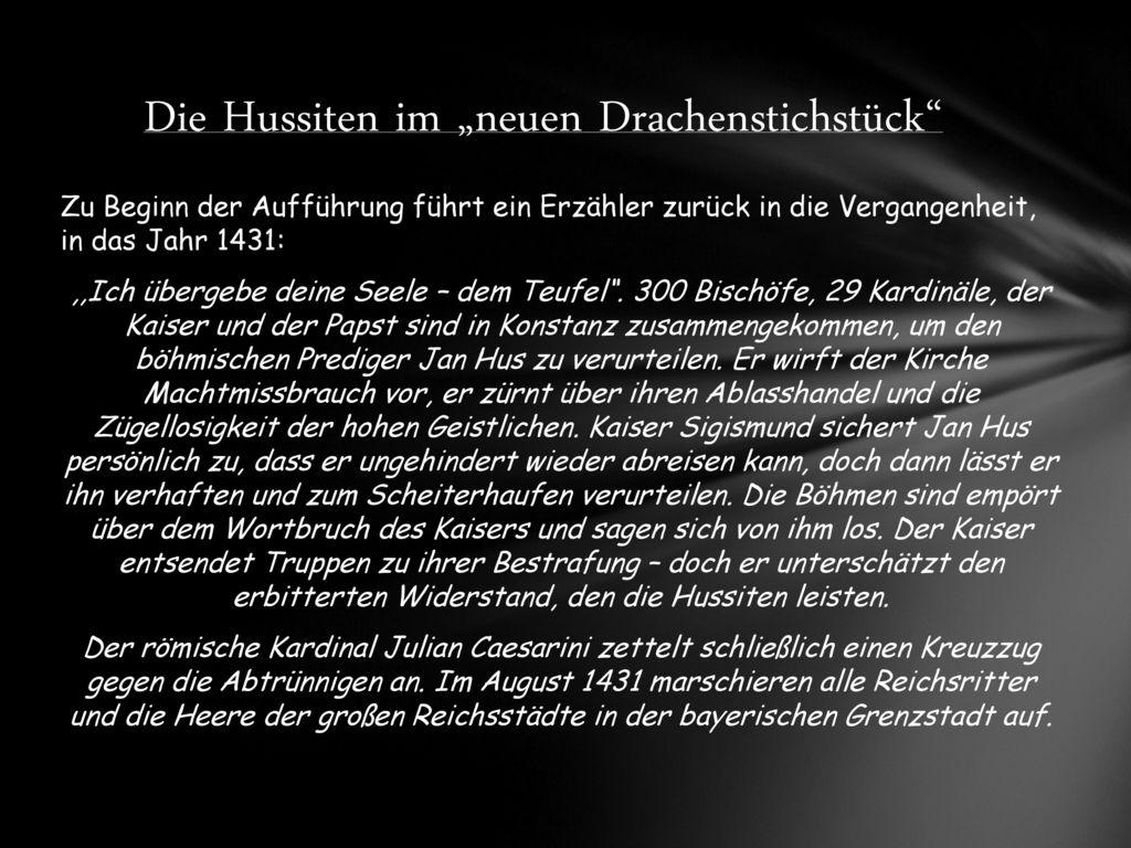 """Die Hussiten im """"neuen Drachenstichstück"""